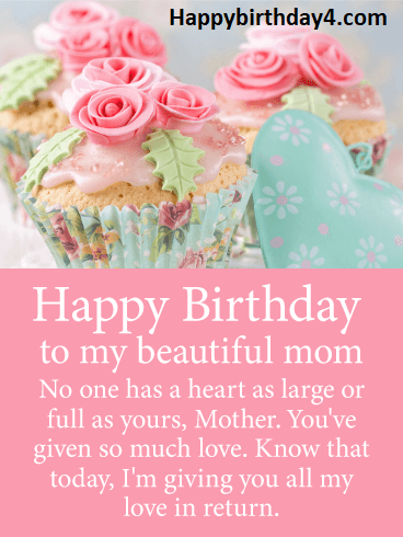 Beautiful Birthday Messages for Mom