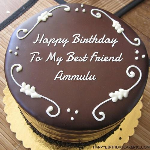Best Chocolate Birthday Cake For Ammulu