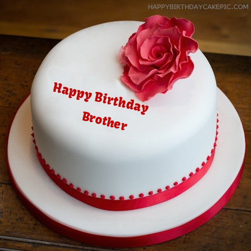 Birthday Cake For Brother With Name And Pic Editor Online Free