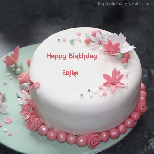 Elegant Happy Birthday Cake