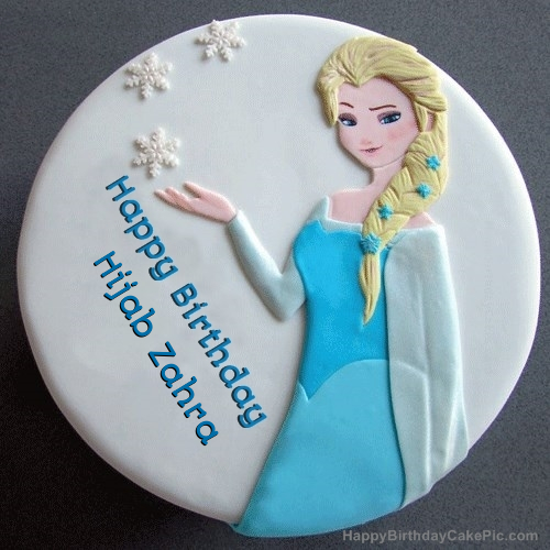 So here is a new hijab style you can easily carry especially when winters are around. Frozen Elsa Birthday Cake For Hijab Zahra