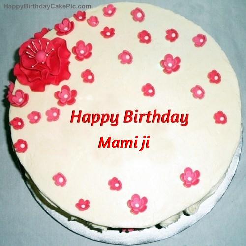 Fondant Birthday Cake For Mami Ji