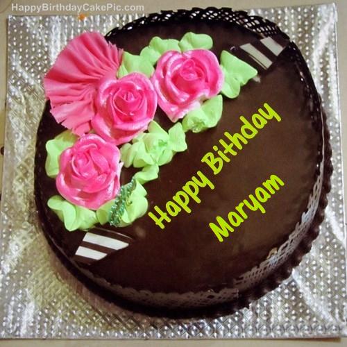 ️ Chocolate Birthday Cake For Maryam