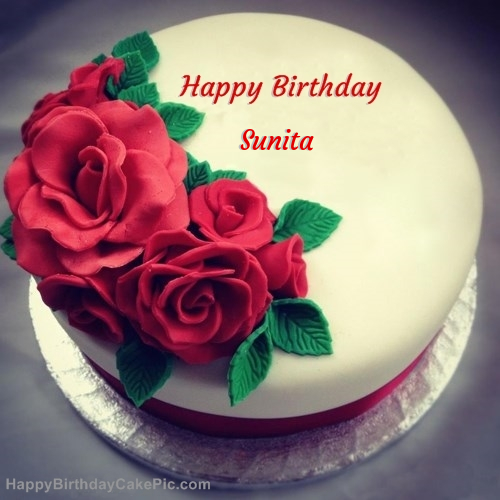 Roses Birthday Cake For Sunita