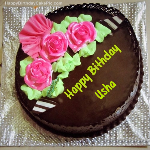 Happy Birthday Cake Usha