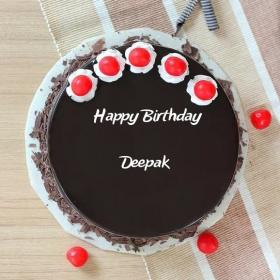 Birthday Cake Name Deepak The Cake Boutique