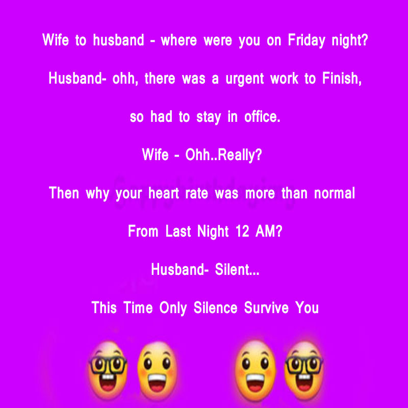 Husband Wife Joke in English for whatsapp facebook share with Images