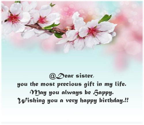 Happy Birthday Sister pics with messages quotes for whatsapp status