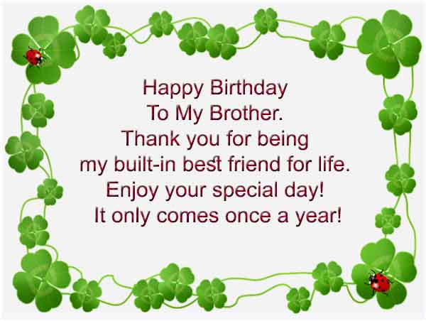 Happy Birthday MSG For Brother