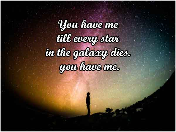 Galaxy love quotes