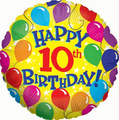 Happy 10th Birthday Wishes And Greetings