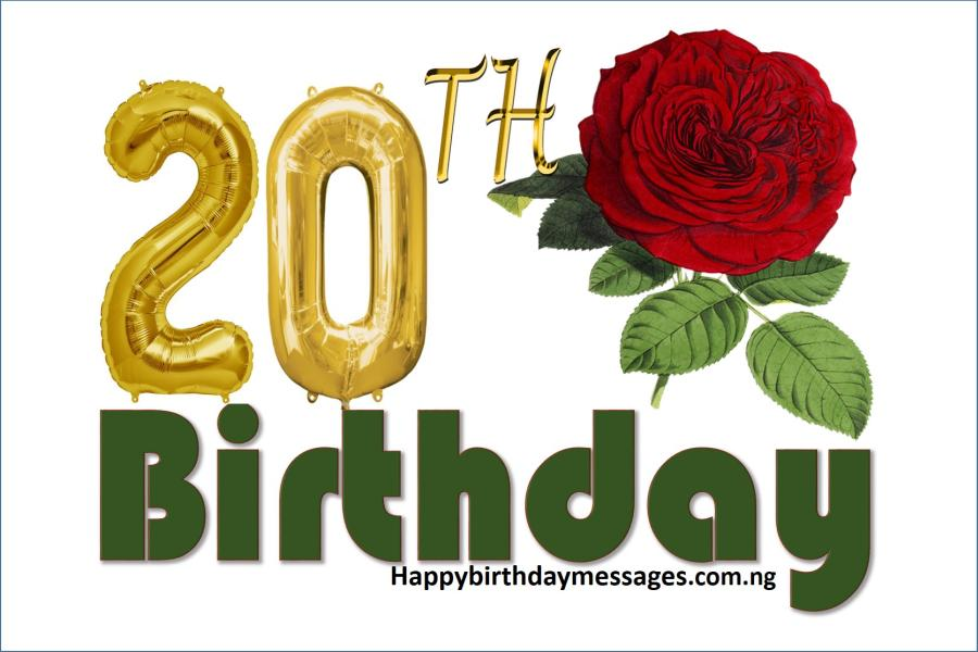 Top 20 20th Birthday Wishes Greetings Quotes