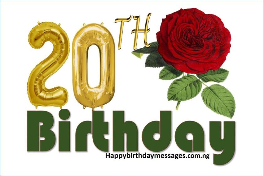Top 20 20th birthday wishes greetings quotes happy birthday happy 20th birthday wishes greetings and quotes bookmarktalkfo Choice Image