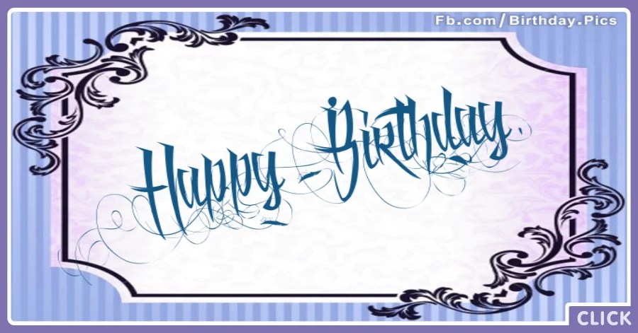 Tattoo Style Blue Happy Birthday Card Happy Birthday