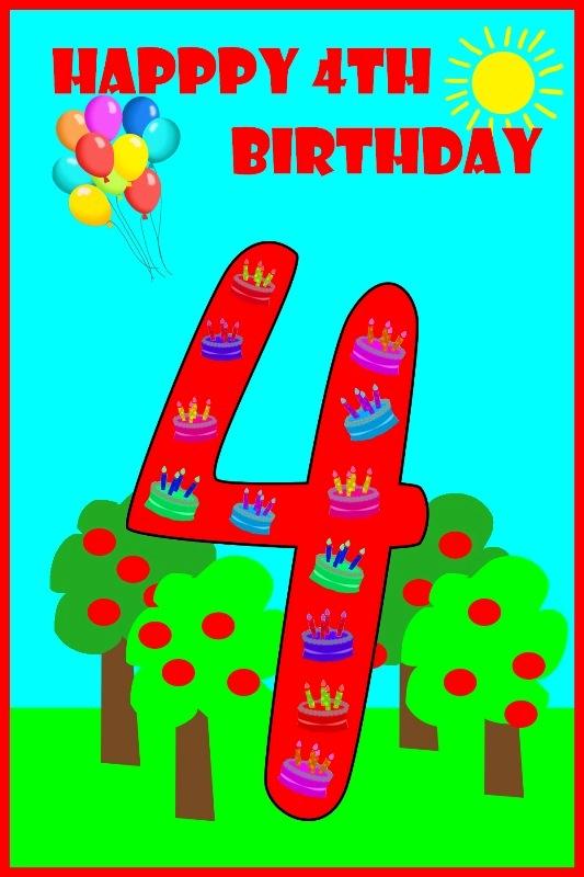 Happy 4th Birthday Son : happy, birthday, Beautiful, Birthday