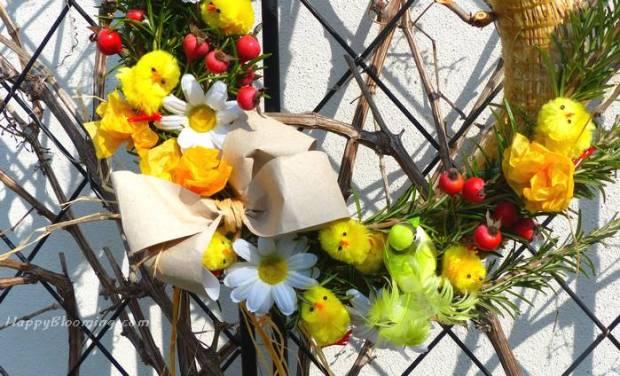 couronne pâques printemps déco diy