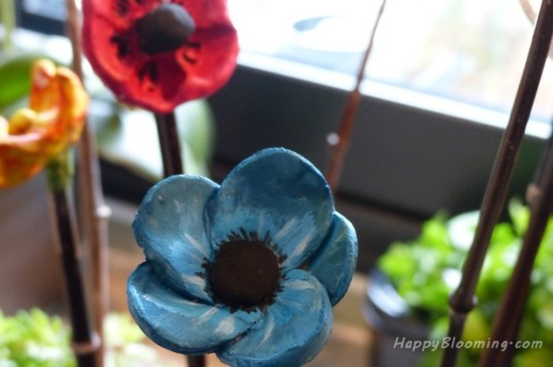 diy fleur en argile bricolage enfant décoration déco idée pot de fleurs
