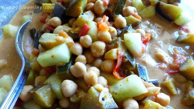 curry de pois chiche recette facile rapide vegan chickpeas salade recipe