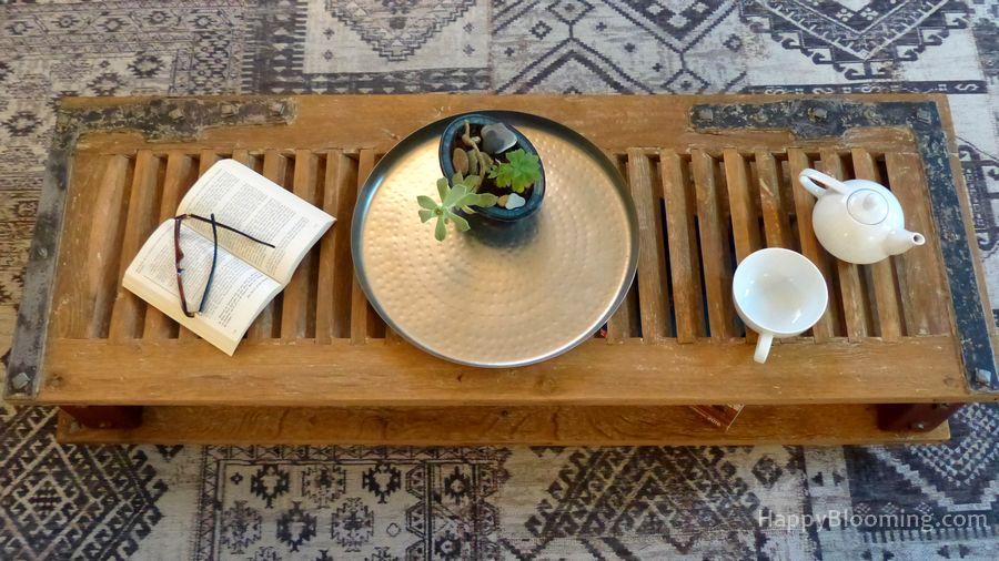 Une table basse recyclée et unique