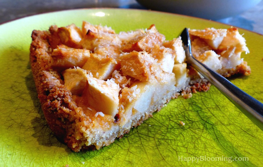 Tarte façon Crumble aux Pommes - sans gluten