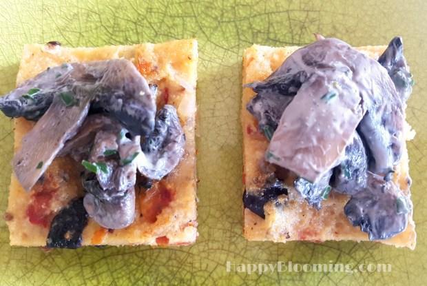 polenta olives tomates champignons