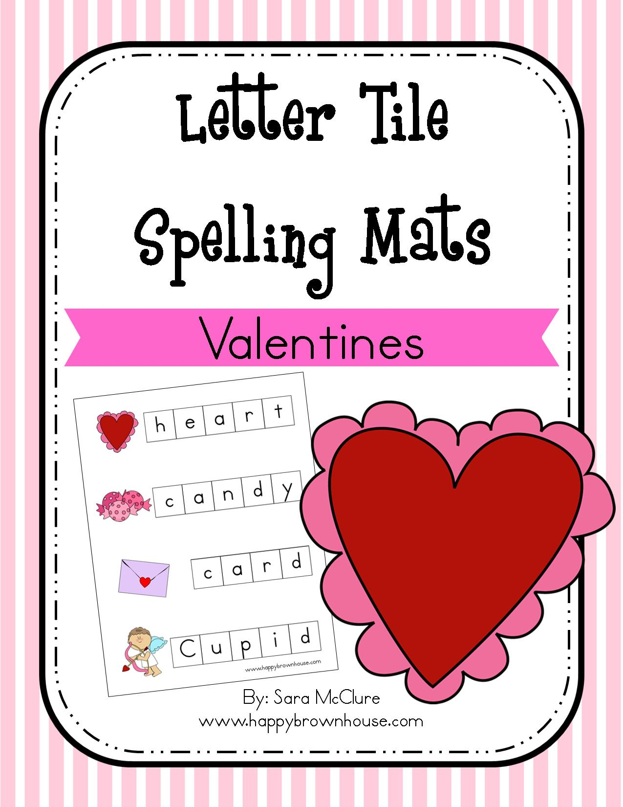 Valentine S Day Letter Tile Spelling Mat