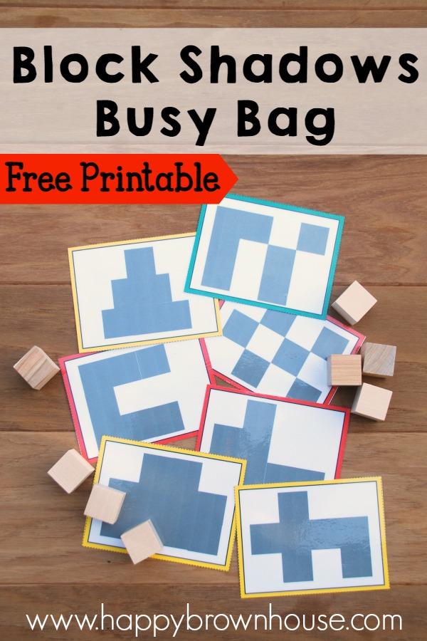 Block Shadows Busy Bag Happy Brown House