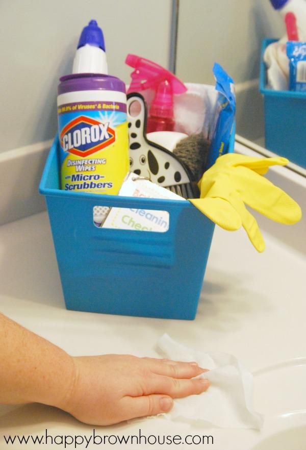 Bathroom Cleaning Kit for Kids Free Printable Bathroom