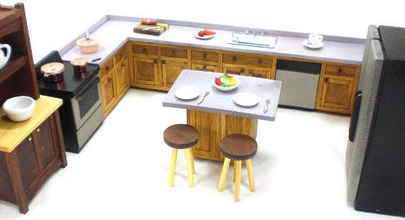 kitchen miniature unique countertops cabinets happy bungalow furniture custom cabinetry alt001a