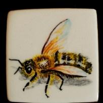 "Bee, ceramic, 1.25x1.25,"" 2015"
