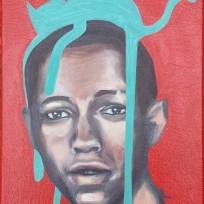 """7th Grade 1969, oil on canvas, 9x12,"""" 2015"""