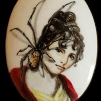 """Spider, ceramic, 1.5x2.25,"""" 2015"""