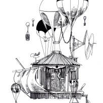 Illustration for the Music Box Village. 2018