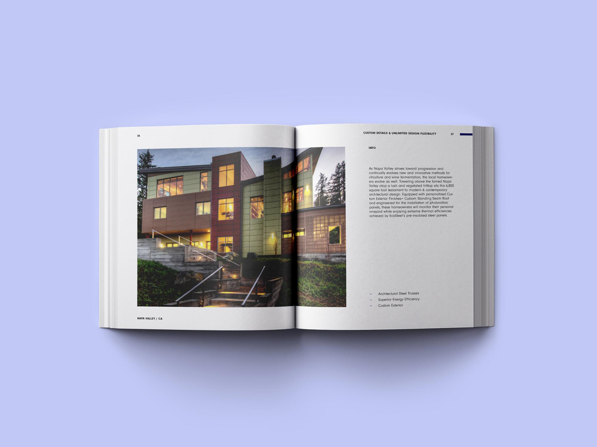 EcoSteel Product Catalog  designed by Happy Buro