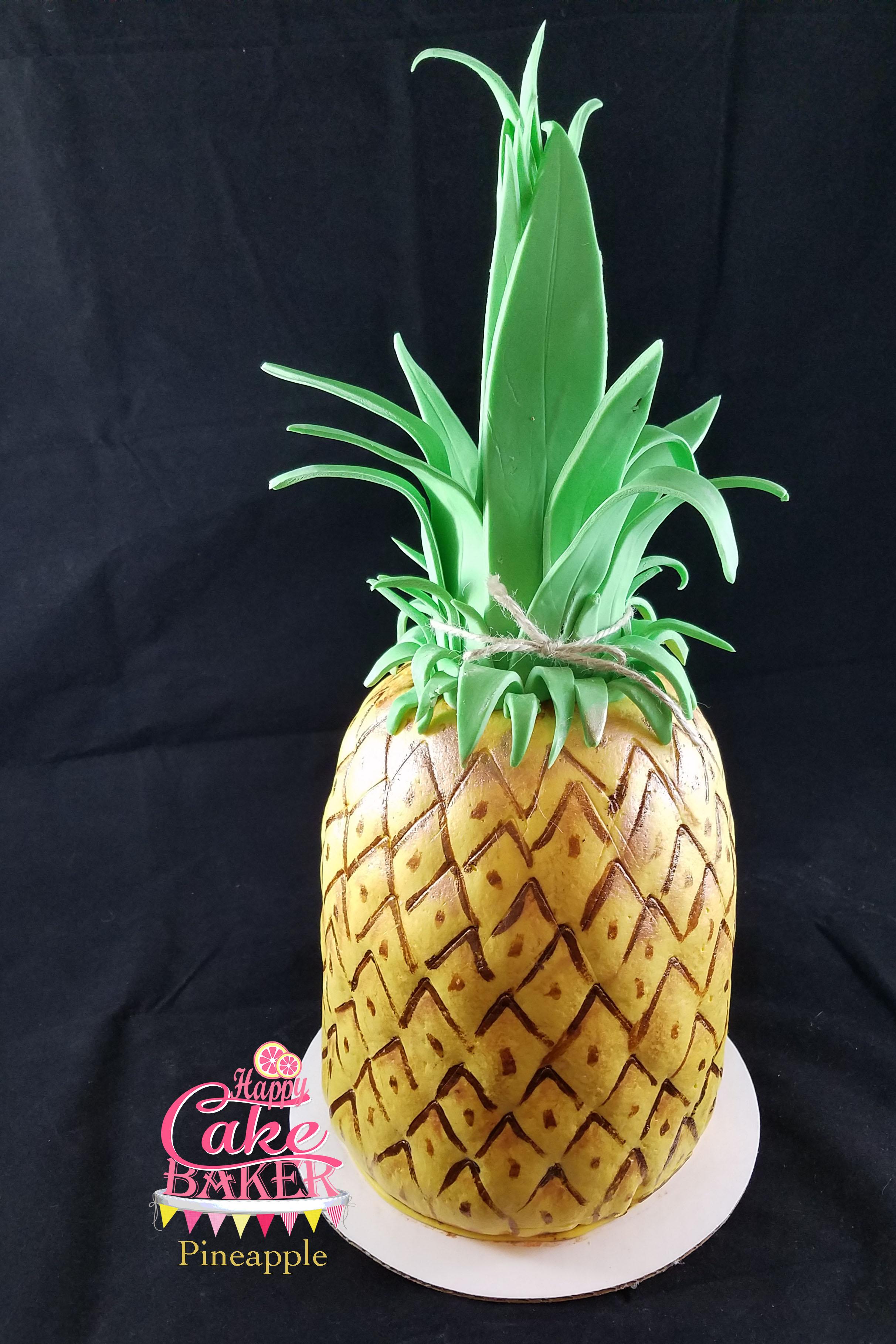 Pineapple Cake Fondant