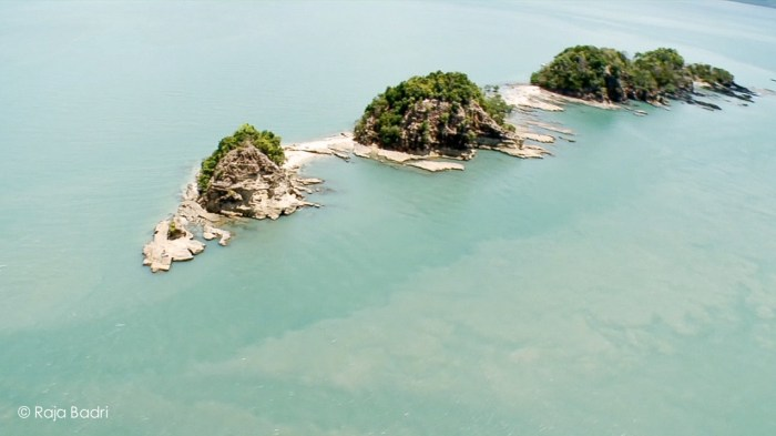 Aerial View of Pulau Ular or Snake Island