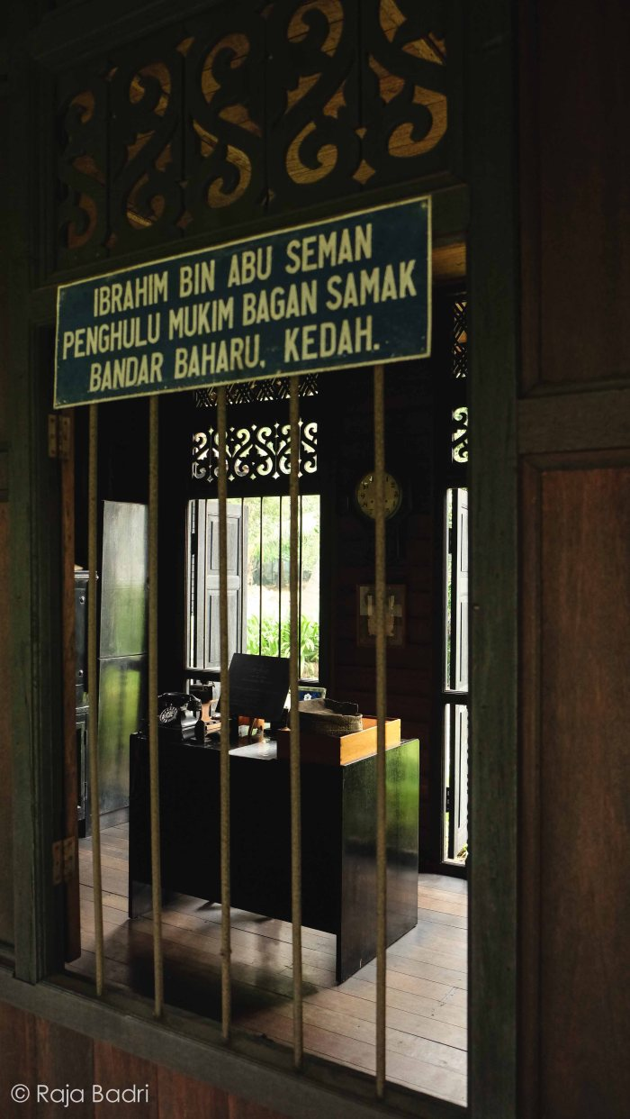 Penghulu Seman's office which sometimes serves as a temporary lock-up for offenders.