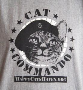 Cat Commando t-shirt