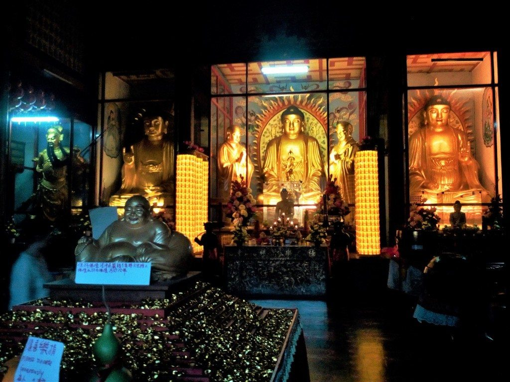 Just a few of the reputed 10,000 Buddha images in the Kek Lok Si temple