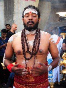 A devotee in trance
