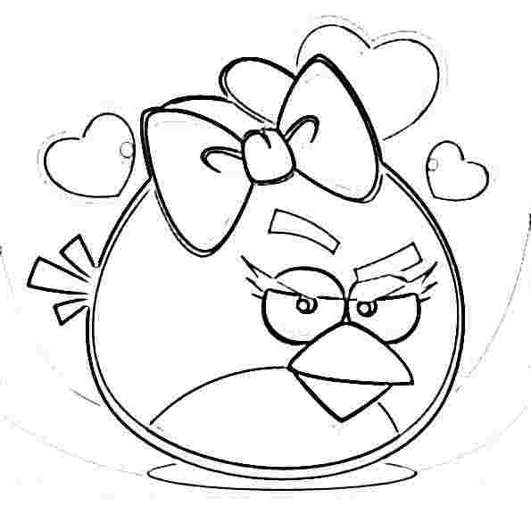 New Angry Bird Christmas Coloring Pages