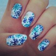 christmas acrylic nail design
