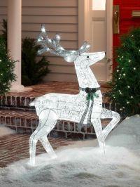 outdoor reindeer christmas decorations