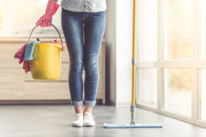 What rooms do house cleaners clean?