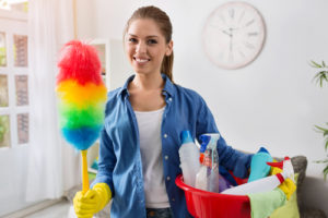 What is included in a basic house cleaning