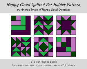 Happy Cloud Quilted Pot Holders