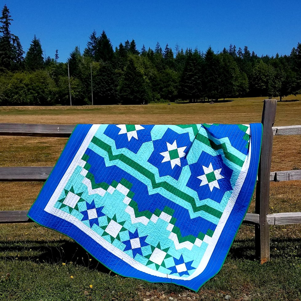 3 starlight mountains quilt