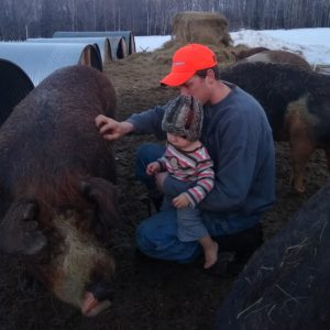 Joe, Ben, and the boar