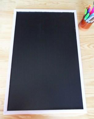 Après : tableau peint à la peinture noire pour tableau