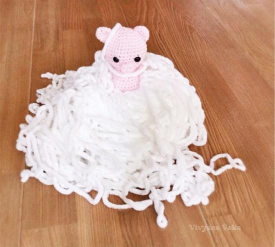 Un cochon au crochet-vivyane veka